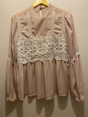 Asos Blusa de encaje beige-crema