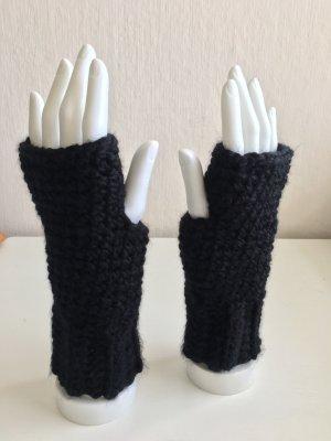 handmade Guantes sin dedos negro