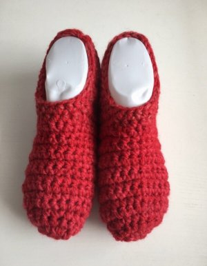 handmade Botas de fieltro rojo