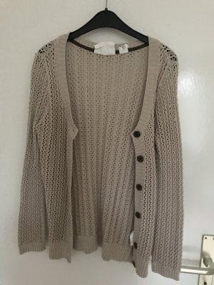 H&M L.O.G.G. Crochet Cardigan beige mixture fibre