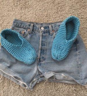 Pantoufles bleu clair-turquoise