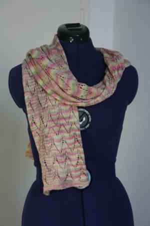 Bufanda de ganchillo multicolor Algodón