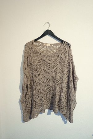 Hollister Knitted Poncho multicolored