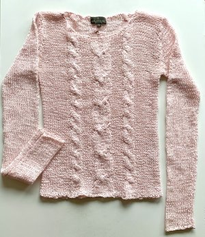 Gehäkelter Pullover | rosé