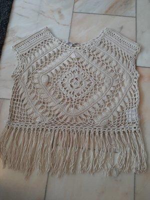 Clockhouse Crochet Shirt oatmeal-beige