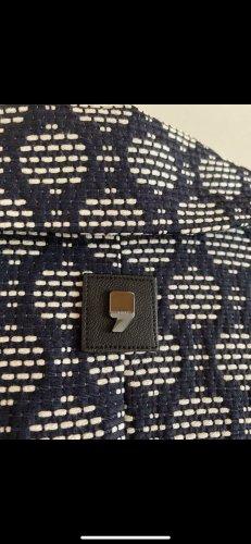 Comma Redingote blu scuro-bianco