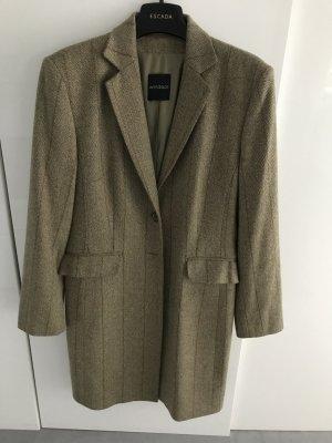 Windsor Giacca lunga marrone-grigio Lana