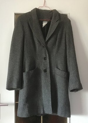 3 Suisses Frock Coat black-white wool