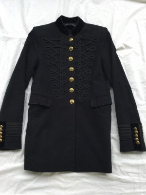 Zara Military Jacket black-gold-colored