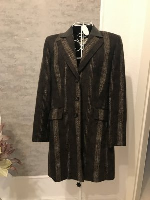 Basler Frock Coat black brown-camel wool