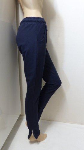 Joggingbroek donkerblauw-zilver