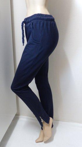 Pantalon de jogging bleu foncé-argenté