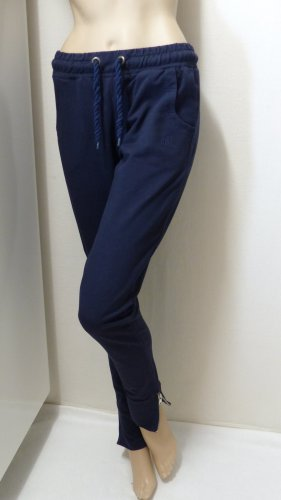 Pantalone fitness blu scuro-argento