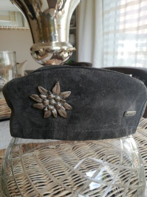 Geier Wally Béret gris foncé cuir