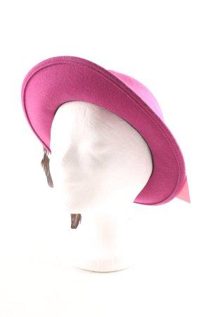 Geiger Chapeau en feutre rose-brun élégant