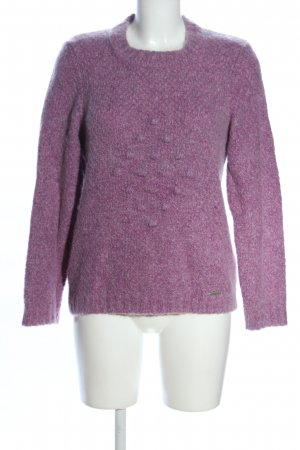 Geiger Strickpullover lila Casual-Look