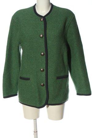 Geiger Blazer Tweed verde-negro moteado look casual