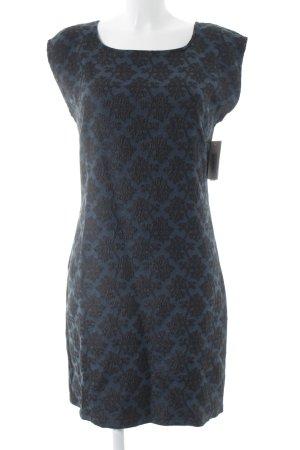 Geisha Etuikleid schwarz-petrol abstraktes Muster extravaganter Stil