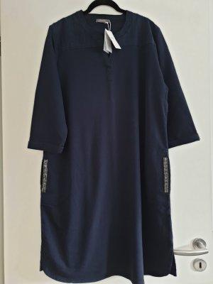 Geisha Sweat Dress silver-colored-dark blue