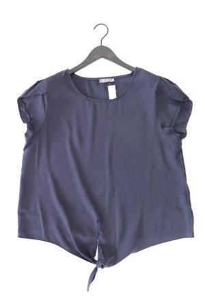 Geisha Kurzarmbluse Größe 42 blau aus Lyocell
