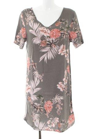 Geisha Kurzarmkleid Blumenmuster Casual-Look