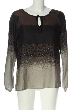 Geisha Langarm-Bluse Farbverlauf Casual-Look