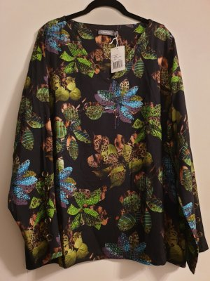 Geisha V-Neck Shirt black-green
