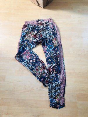 Geisha Pantalon large multicolore