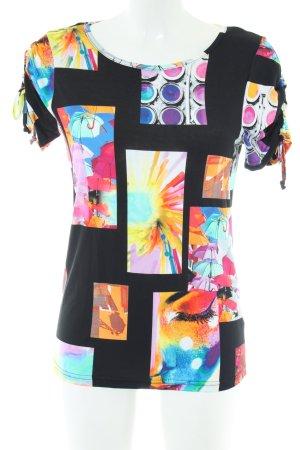 Geisha Print-Shirt Allover-Druck Casual-Look