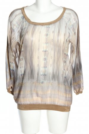 Geisha Schlupf-Bluse abstraktes Muster Casual-Look