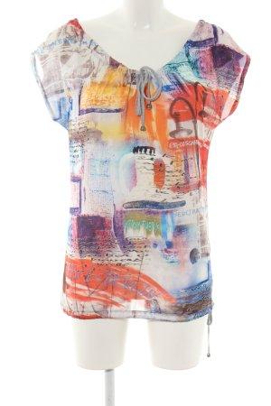 Geisha Camisa tipo túnica estampado con diseño abstracto look casual