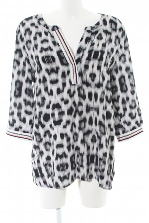 Geisha Hemdtuniek lichtgrijs-zwart luipaardprint casual uitstraling