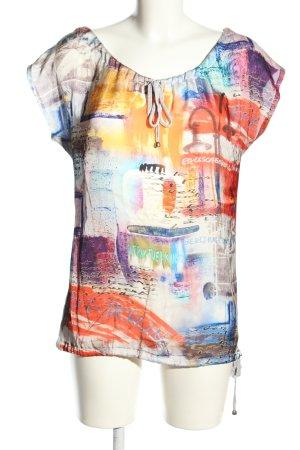 Geisha T-Shirt abstraktes Muster Casual-Look