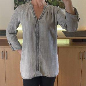 Geisha Blouse en jean gris clair-gris