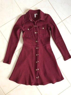 Asos Petite Robe chemise bordeau-rouge carmin