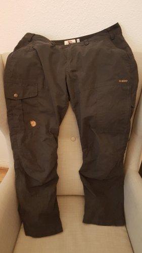 Fjällräven Pantalone da ginnastica marrone-nero Poliestere