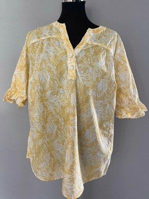 Gelb gemusterte Bluse von walbusch, Gr. 44