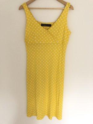 Gelb gepunktetes Kleid