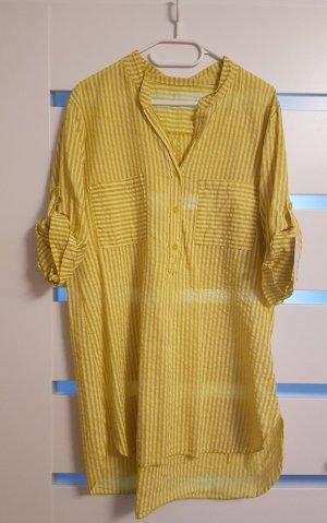gelb gestreiftes blusenkleid