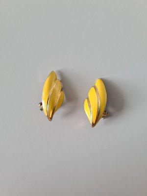 Vintage Pendientes de clip color oro-amarillo