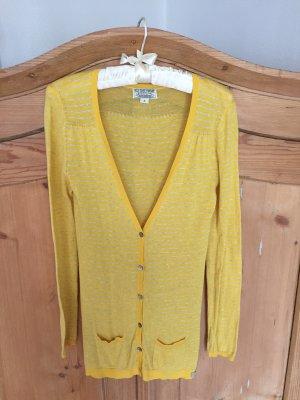 Gelb-grau gestreifter Cardigan von Polo Jeans Ralph Lauren