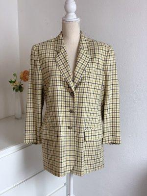 Gelb karierter Vintage Blazer