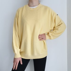 Gelb Oversize Pullover Hoodie Pulli Sweater 58 Top True Vintage Oberteil