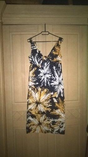 gelb/schwarzes schickes Kleid