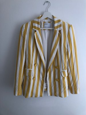 Gelb/weiß Blazer