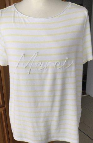 Bonita T-shirt giallo chiaro-bianco