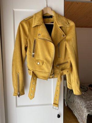 Zara Basic Giacca da motociclista giallo