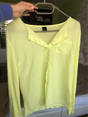 BC Long Sleeve Blouse pale yellow-lime yellow