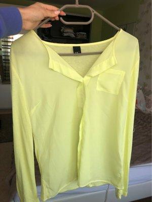 BC Blouse à manches longues jaune clair-jaune citron vert
