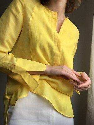 Massimo Dutti Linen Blouse yellow